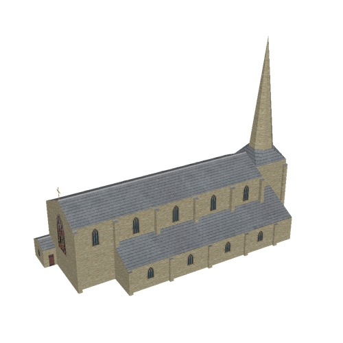 Screenshot of Church, stone, cotswold, spire, 40m