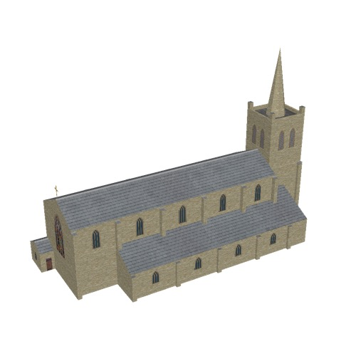 Screenshot of Church, stone, cotswold, tower and spire, 40m