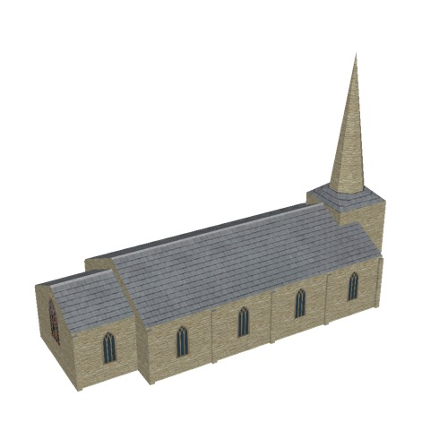 Screenshot of Church, stone, cotswold, spire, 30m