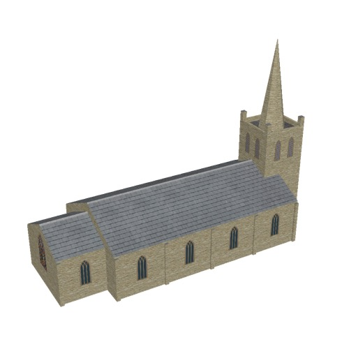 Screenshot of Church, stone, cotswold, tower and spire, 30m