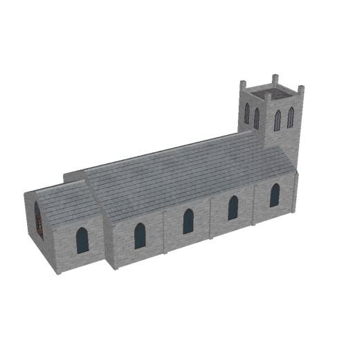 Screenshot of Church, stone, light grey, tower, 30m