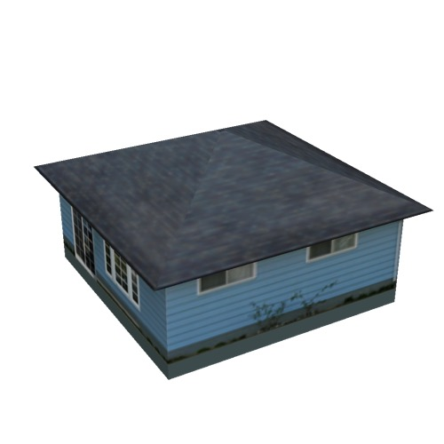 Screenshot of House, Wooden, Single Storey, Small, Blue