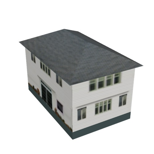 Screenshot of House, Wooden, Two Storey, Large, White 2