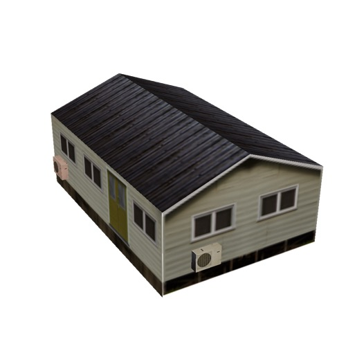 Screenshot of House, Wooden, Small, Tan, Black Roof