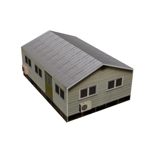 Screenshot of House, Wooden, Small, Tan, Grey Roof
