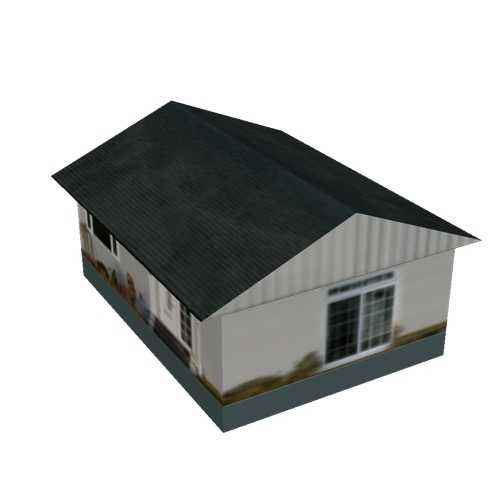 Screenshot of House, Wooden, Single Storey, Small, White