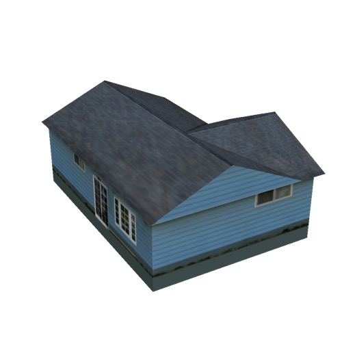 Screenshot of House, Wooden, Single Storey, Large, Blue