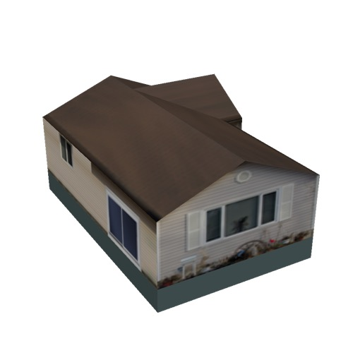 Screenshot of House, Wooden, Single Storey, Large, White