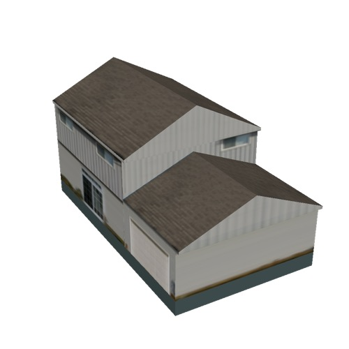 Screenshot of House, Wooden, Two Storey, Medium, White