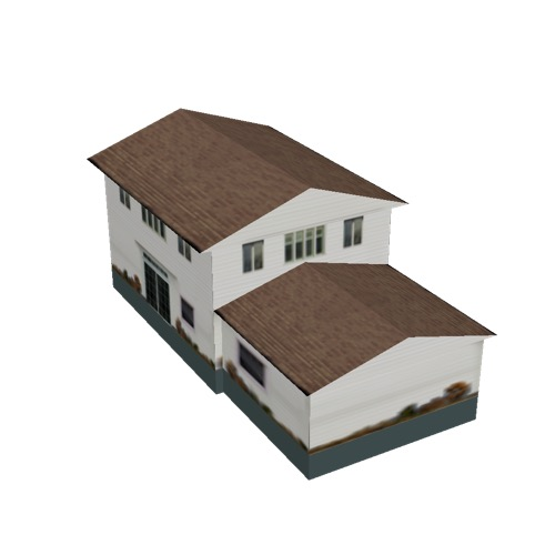 Screenshot of House, Wooden, Two Storey, Large, White