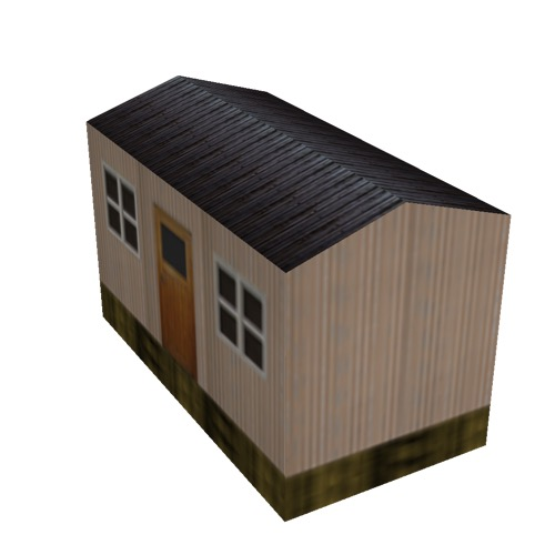 Screenshot of Hut, Wooden, Salmon, Black Roof