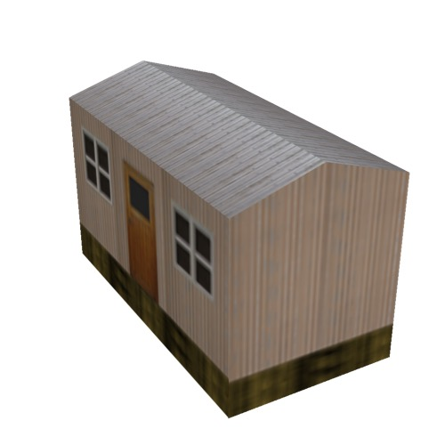 Screenshot of Hut, Wooden, Salmon, Grey Roof