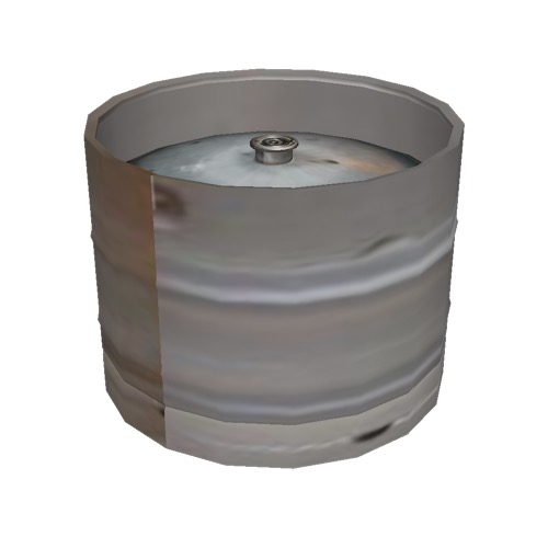 Screenshot of Beer keg, aluminium