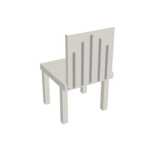 Screenshot of Chair, plastic, white