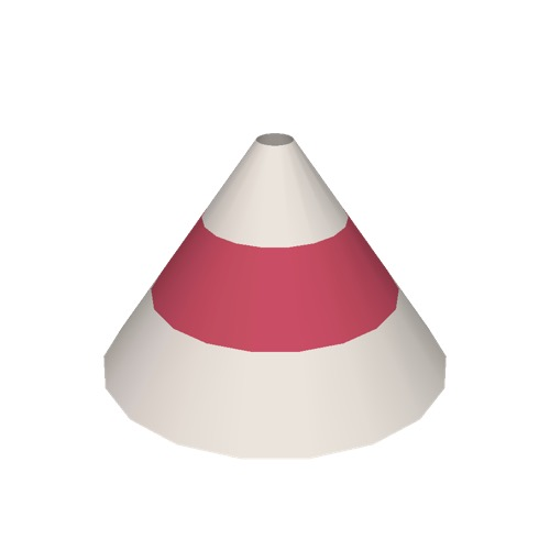 Screenshot of Cone, small, red and white