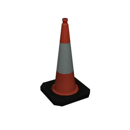 Screenshot of Traffic Cone, Large, Red and White