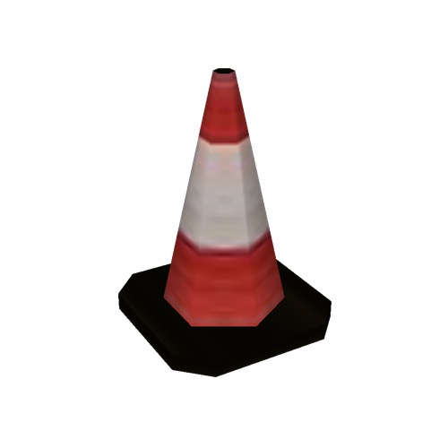 Screenshot of Traffic Cone, Small, Red and White