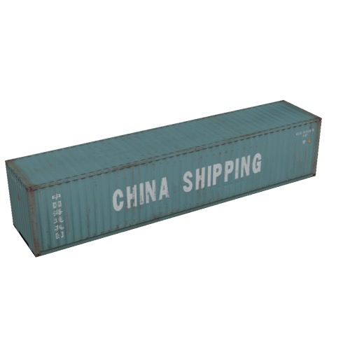 Screenshot of Shipping container, 16m, green, China Shipping