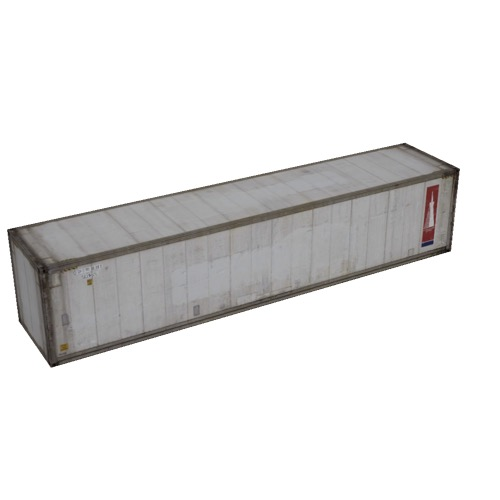 Screenshot of Shipping container, 16m, white