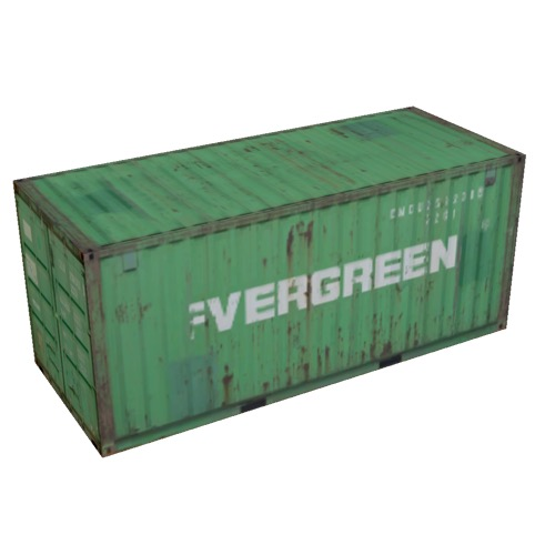 Screenshot of Shipping container, 6m, green, Evergreen