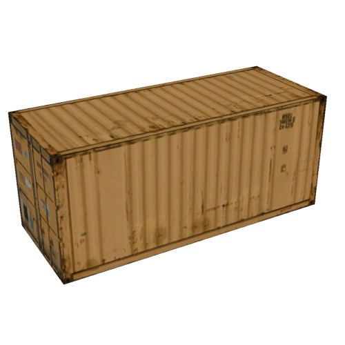 Screenshot of Shipping container, 6m, orange