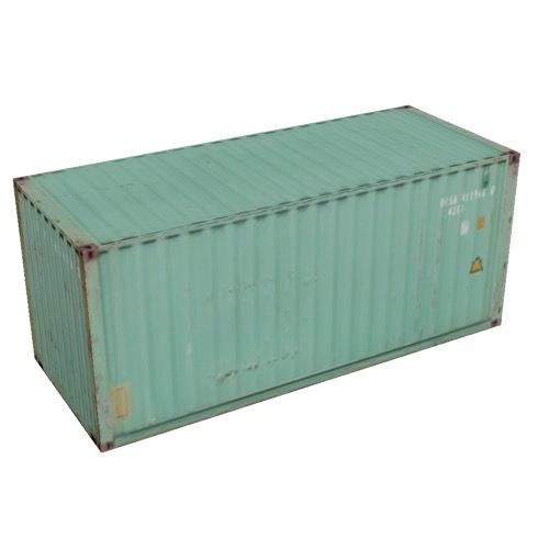 Screenshot of Shipping container, 6m, pale green