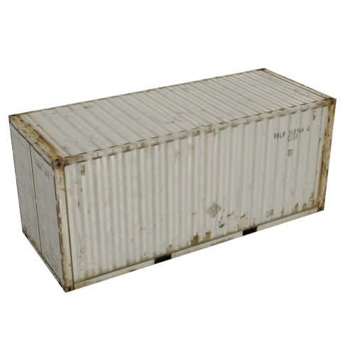 Screenshot of Shipping container, 6m, white