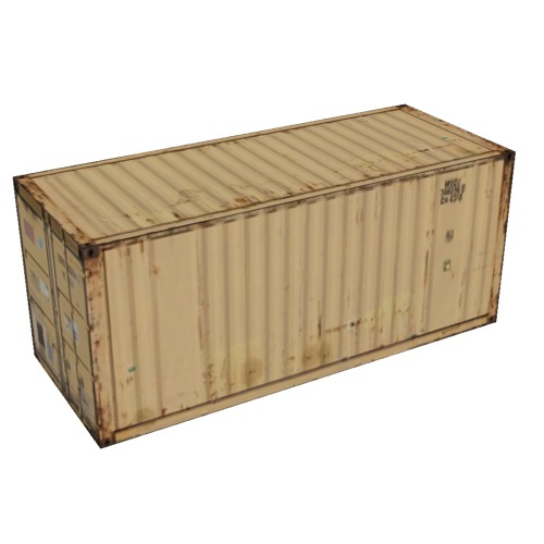Screenshot of Shipping container, 6m, yellow