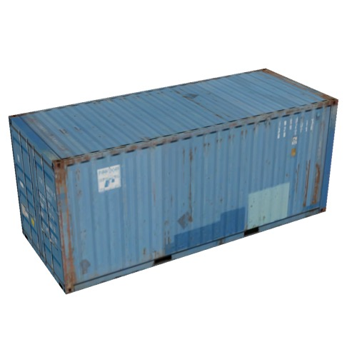 Screenshot of Shipping container, 6m, blue