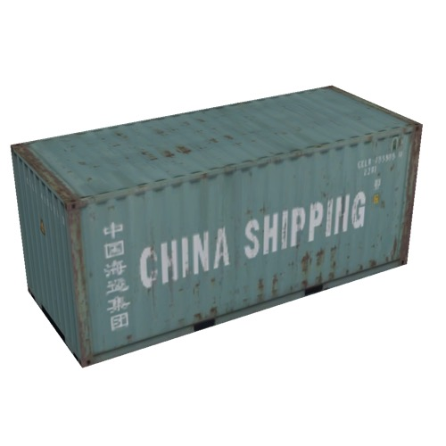 Screenshot of Shipping container, 6m, green, China Shipping