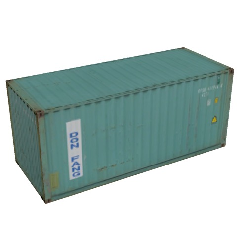 Screenshot of Shipping container, 6m, green, Dong Fang