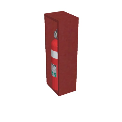Screenshot of Fire extinguisher, in cabinet