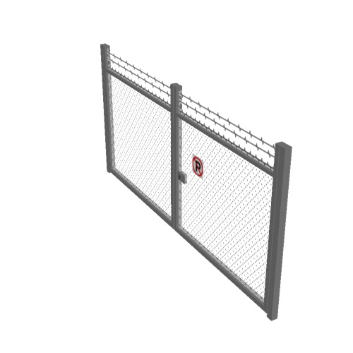 Screenshot of Gate, Grey Chainlink, Double 5m x 2.5m, Closed