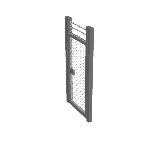 Screenshot of Gate, Grey Chainlink, 1m x 2.5m, Closed