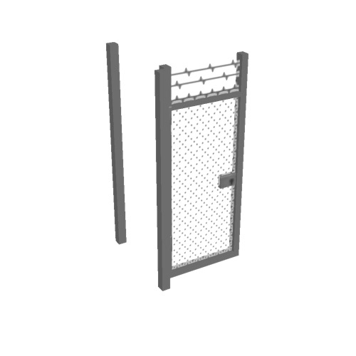 Screenshot of Gate, Grey Chainlink, 1m x 2.5m, Open