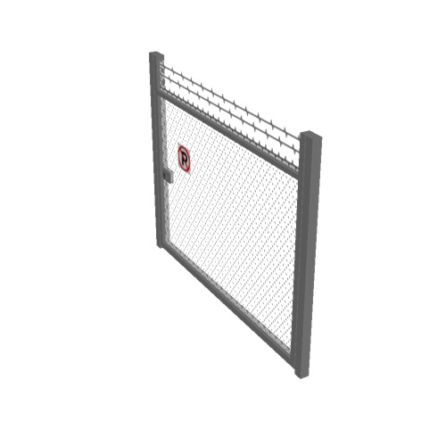 Screenshot of Gate, Grey Chainlink, 3m x 2.5m, Closed