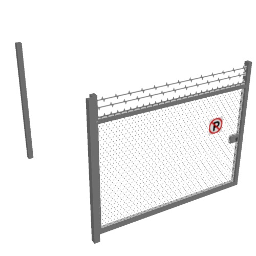 Screenshot of Gate, Grey Chainlink, 3m x 2.5m, Open