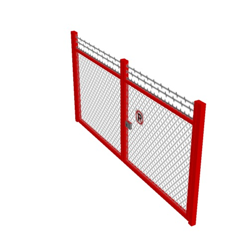 Screenshot of Gate, Red Chainlink, Double 5m x 2.5m, Closed