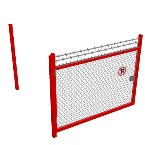 Screenshot of Gate, Red Chainlink, 3m x 2.5m, Open
