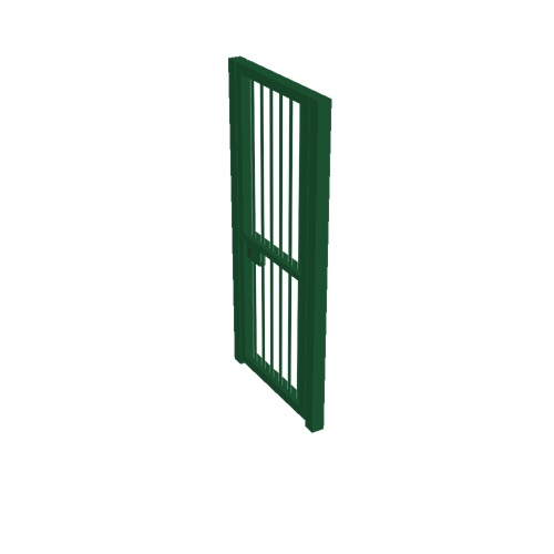 Screenshot of Gate, Green Steel Pallisade, 1m x 2.5m, Closed