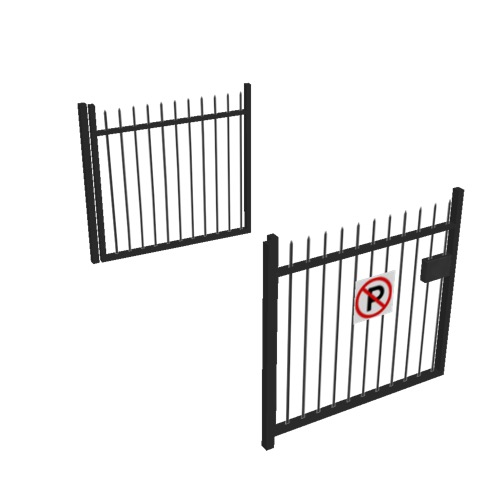 Screenshot of Gate, Black Steel Railing, 3m x 2.5m, Open