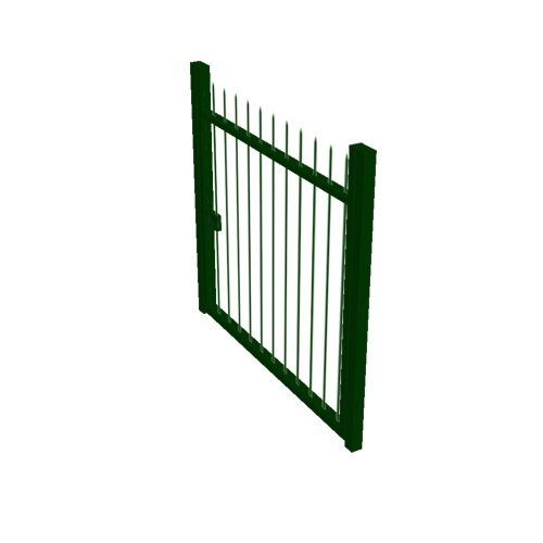 Screenshot of Gate, Green Steel Railing, 1m x 2.5m, Closed