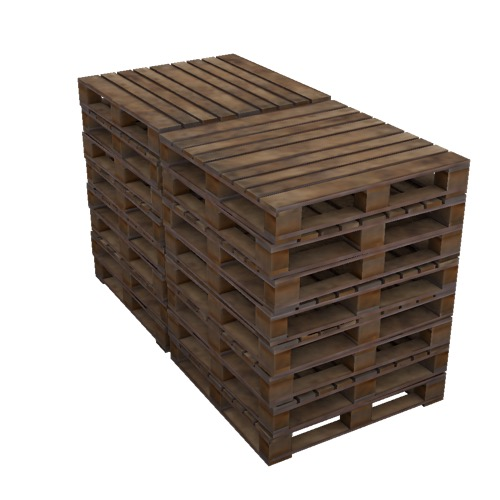 Screenshot of Pallets, empty, stacked