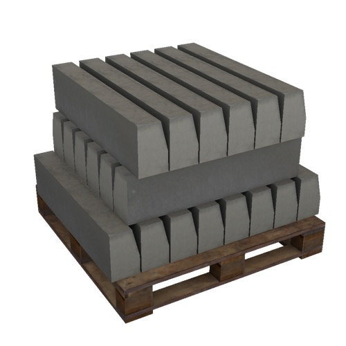 Screenshot of Pallet, concrete blocks