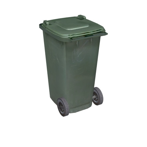 Screenshot of Wheelie bin, small, green, dark green lid