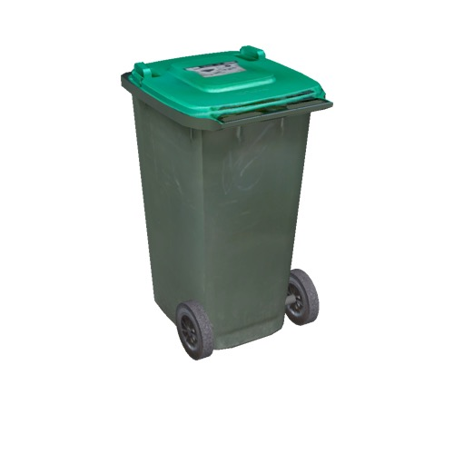 Screenshot of Wheelie bin, small, green, light green lid