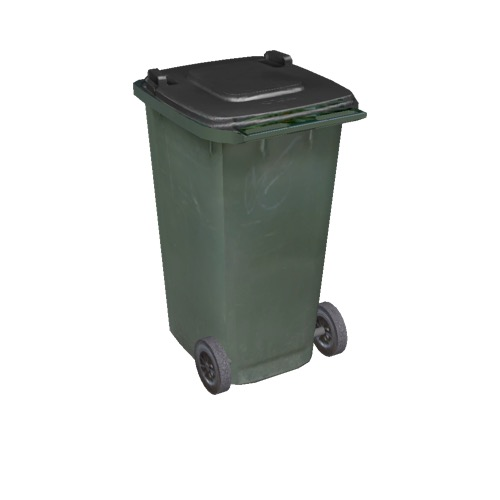 Screenshot of Wheelie bin, large, green, black lid