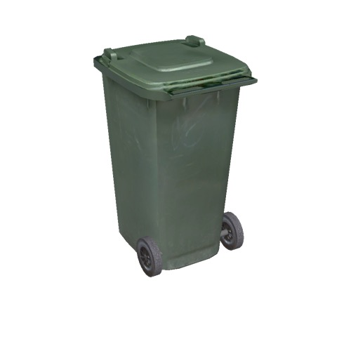 Screenshot of Wheelie bin, large, green, dark green lid