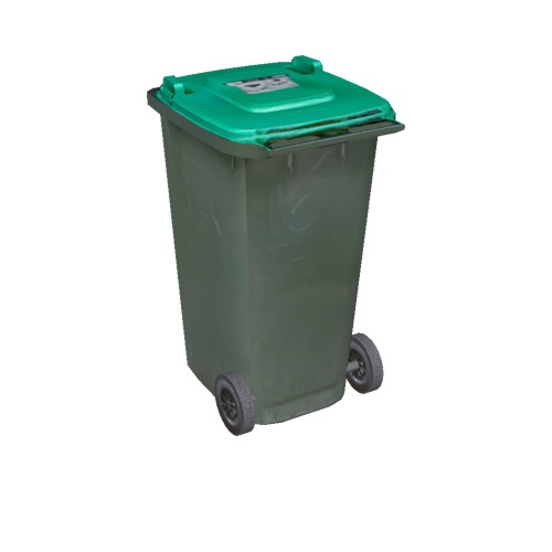 Screenshot of Wheelie bin, large, green, light green lid