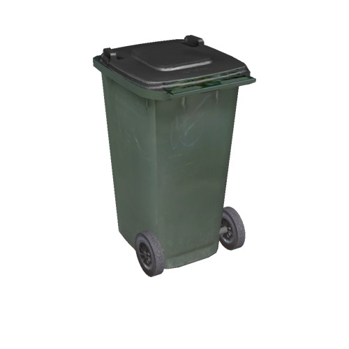 Screenshot of Wheelie bin, small, green, black lid